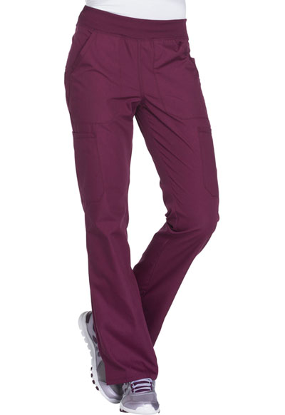 WW Originals Women's Mid Rise Straight Leg Pull-on Cargo Pant Purple