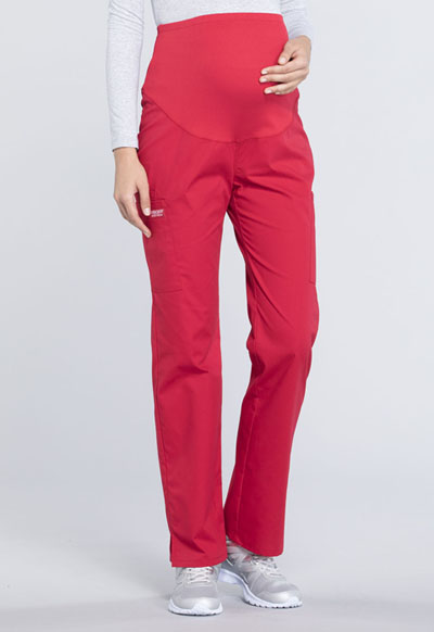6c5150b0c1a9a Photograph of WW Professionals Women's Maternity Straight Leg Pant Red  WW220T-RED
