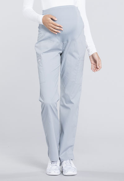 Workwear WW Professionals Women's Maternity Straight Leg Pant Gray