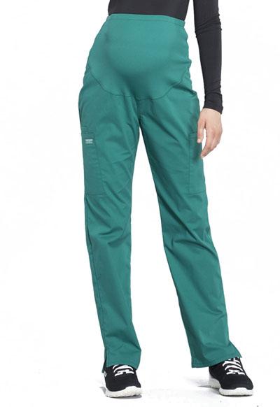 1f27b7eb15ade WW Professionals Maternity Straight Leg Pant in Hunter Green WW220 ...