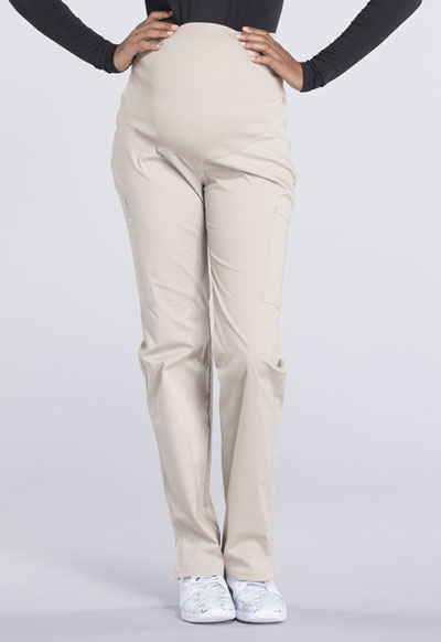 Workwear Ww Professionals Maternity Straight Leg Pant In Khaki Ww220 Kak From Nurses Boutique Etc