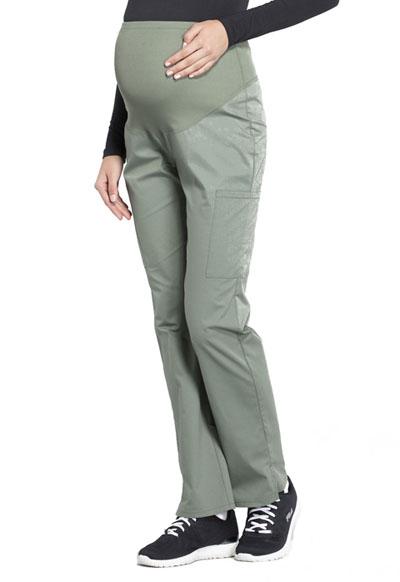 b1543984fffe8 Photograph of WW Professionals Women's Maternity Straight Leg Pant Green  WW220-OLV