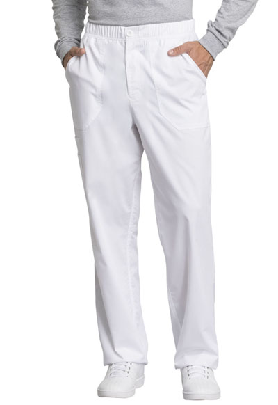 WW Revolution Tech Men's Men's Mid Rise Straight Leg Zip Fly Pant White