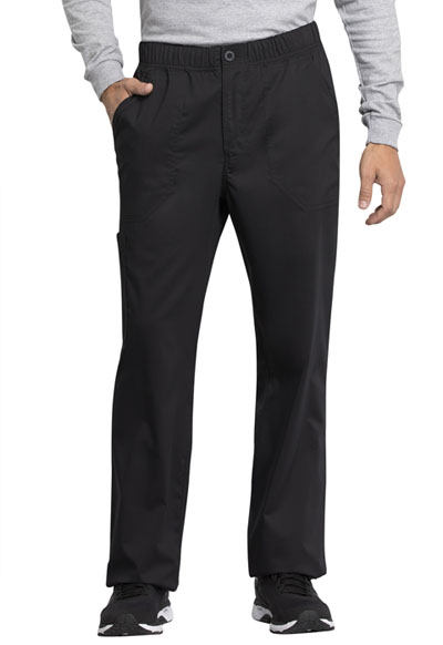 WW Revolution Tech Men Men's Mid Rise Straight Leg Zip Fly Pant Black