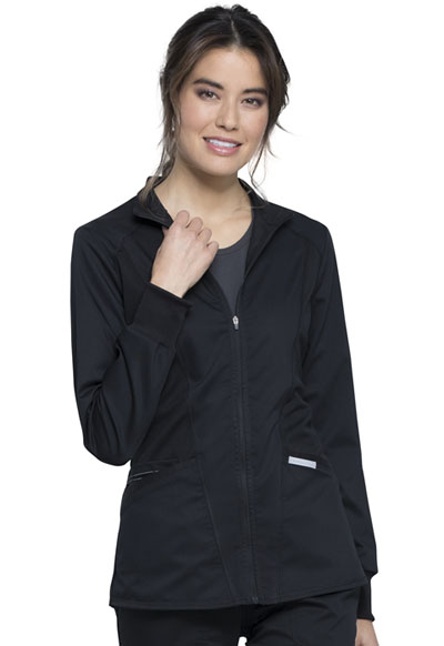 WW Revolution Women's Zip Front High-Low Jacket Black
