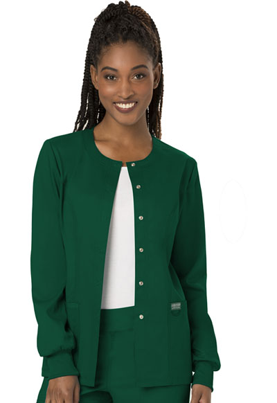 WW Revolution Women's Snap Front Warm-up Jacket Green