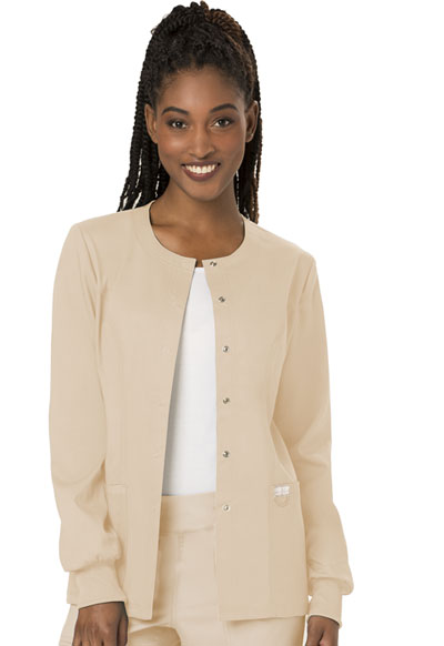 WW Revolution Women's Snap Front Warm-up Jacket Brown