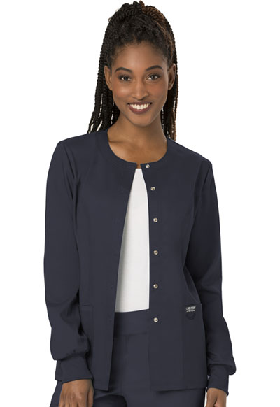 WW Revolution Women's Snap Front Warm-up Jacket Gray