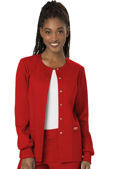 WW Revolution Women's Snap Front Warm-up Jacket Red