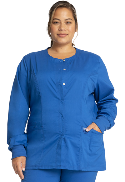 WW Revolution Women's Snap Front Warm-up Jacket Blue
