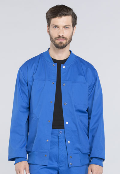 WW Core Stretch Men Men's Snap Front Jacket Blue