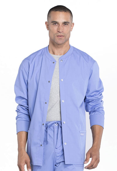 Workwear WW Professionals Men's Men's Snap Front Jacket Blue