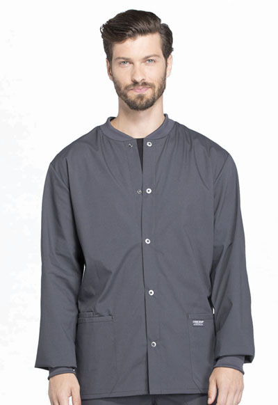 Workwear WW Professionals Men's Men's Snap Front Jacket Gray