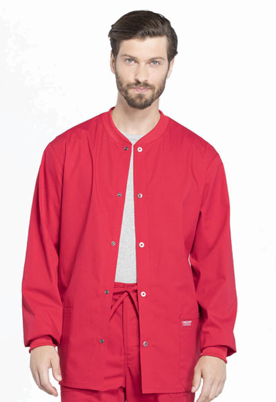 WW Professionals Men's Men's Warm-up Jacket Red
