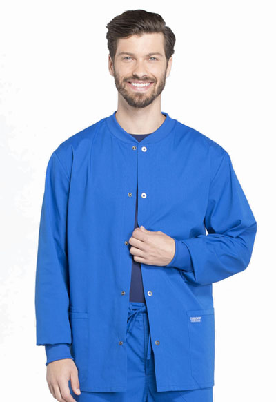 Workwear WW Professionals Men Men's Snap Front Jacket Blue