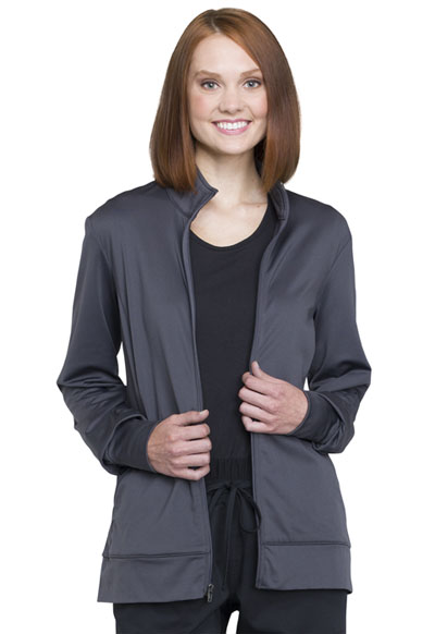 WW Revolution Unisex Unisex Zip Front Knit Jacket Gray