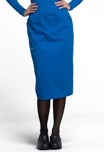 Workwear WW Professionals Women's 30 Knit Waistband Skirt Blue