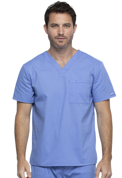 Workwear WW Professionals Unisex Unisex V-Neck Top Blue