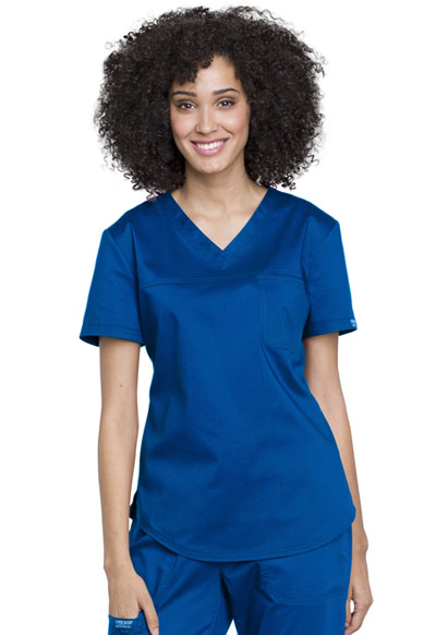 WW Revolution Women's V-Neck O.R. Top Blue