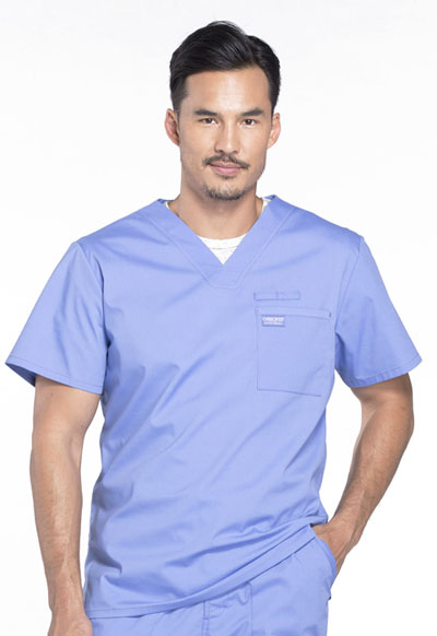 Workwear WW Professionals Men Men's V-Neck Top Blue