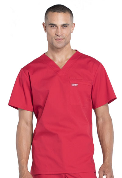 Workwear WW Professionals Men's Men's V-Neck Top Red
