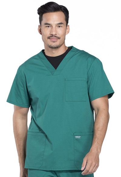 Workwear WW Professionals Men Men's V-Neck Top Green