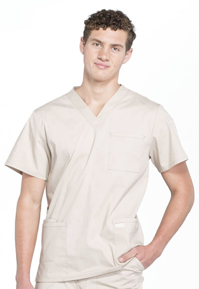 Workwear WW Professionals Men's Men's V-Neck Top Khaki