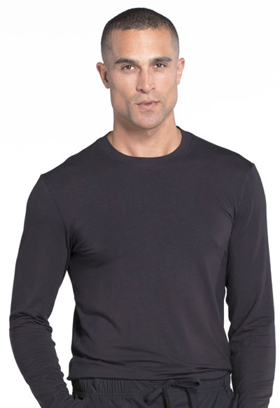 Workwear WW Professionals Men's Men's Underscrub Knit Top Black
