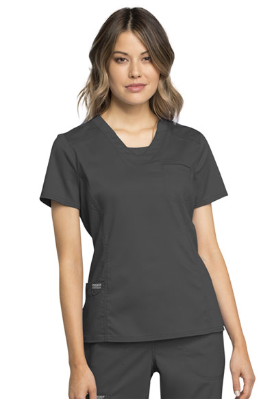 WW Revolution Women's V-Neck Top Gray