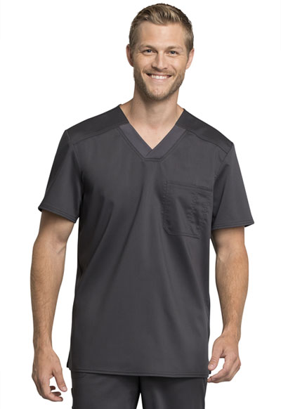 WW Revolution Tech Men Men's V-Neck Top Gray
