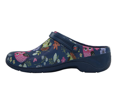 Navy Sweet Owl 8 Anywear Zone Injected Clog with Backstrap