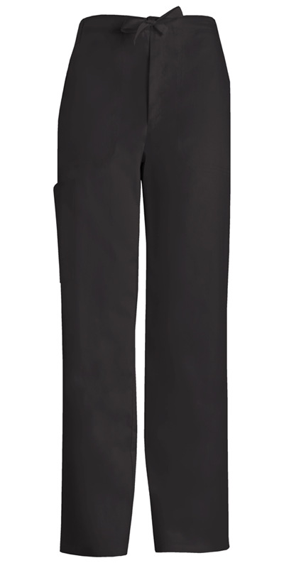 Luxe Men's Men's Fly Front Drawstring Pant Black