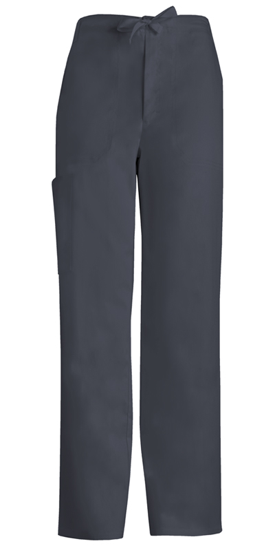 Luxe Men's Men's Fly Front Drawstring Pant Gray