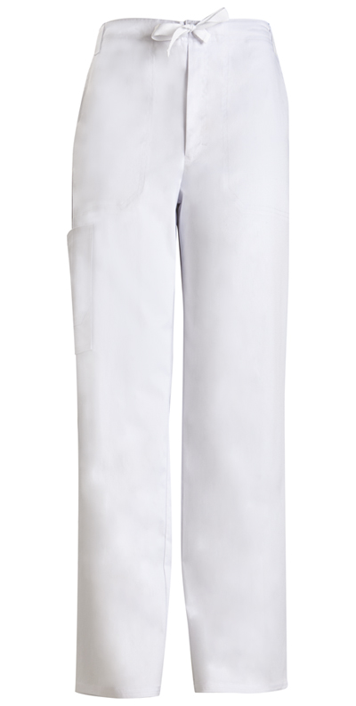 Luxe Men's Men's Fly Front Drawstring Pant White