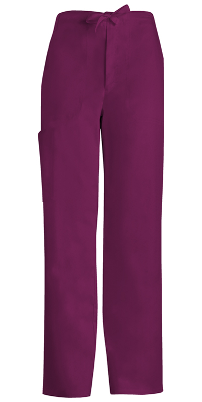 Cherokee Luxe Men's Men's Fly Front Drawstring Pant Red