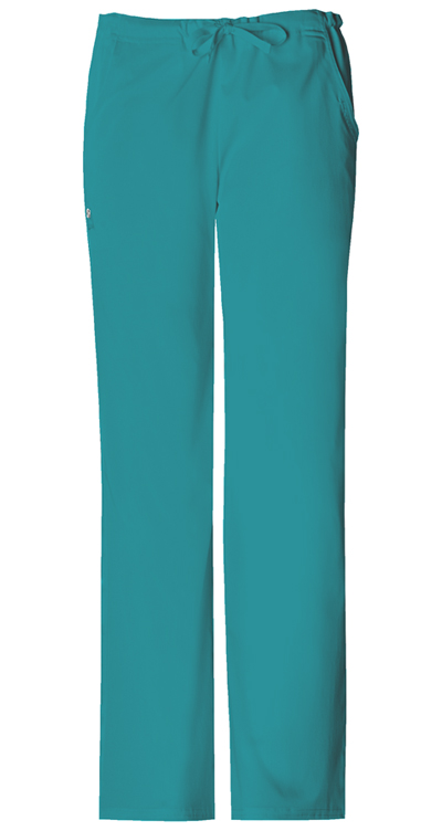 Cherokee Luxe Women's Low Rise Straight Leg Drawstring Pant Green
