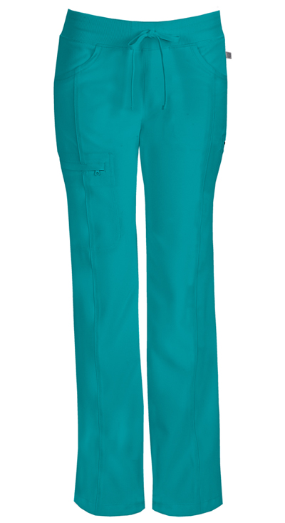 Infinity by Cherokee Women's Low Rise Straight Leg Drawstring Pant Blue