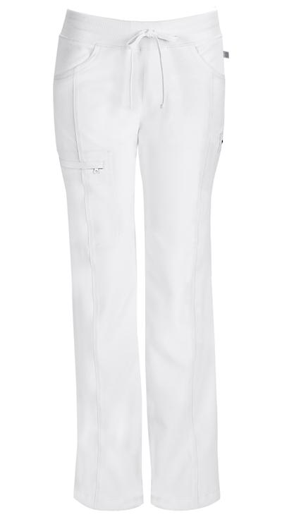 Infinity by Cherokee Women's Low Rise Straight Leg Drawstring Pant White