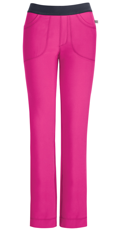Infinity Women's Low Rise Slim Pull-On Pant Pink