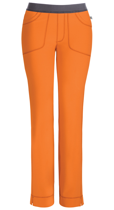 Infinity Women's Low Rise Slim Pull-On Pant Orange