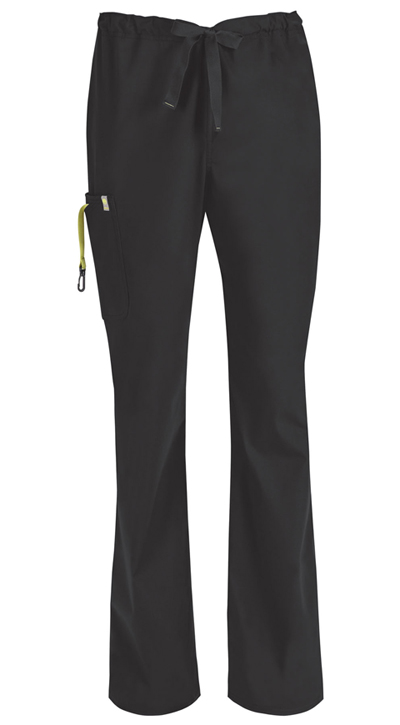 Code Happy Bliss Men's Men's Drawstring Cargo Pant Black