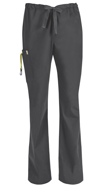 Code Happy Bliss Men's Men's Drawstring Cargo Pant Gray
