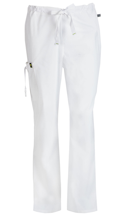 Bliss Men's Men's Drawstring Cargo Pant White