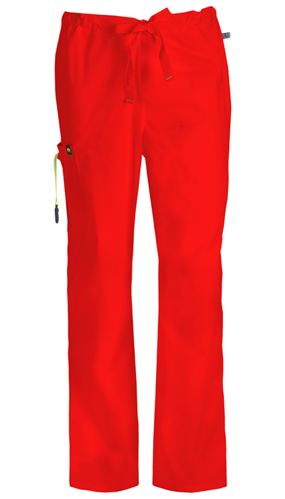 Code Happy Bliss Men's Men's Drawstring Cargo Pant Red