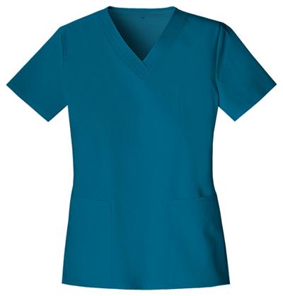 Cherokee Luxe Women's V-Neck Top Blue