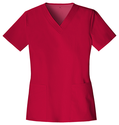 Luxe Women's V-Neck Top Red