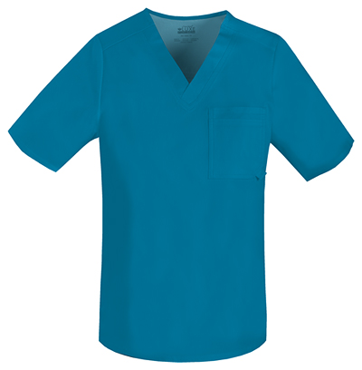 Luxe Men's Men's V-Neck Top Blue