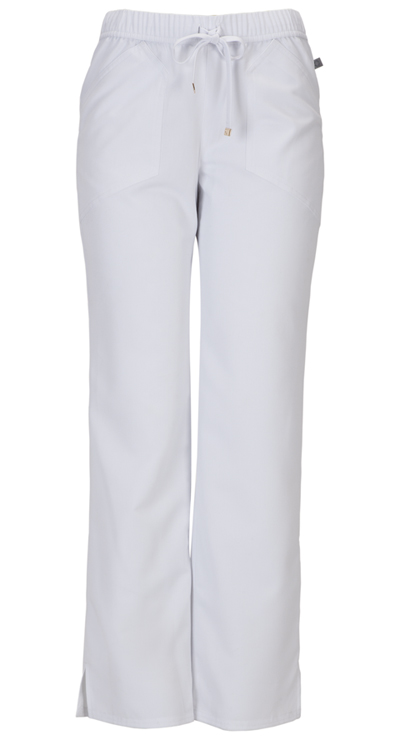 Head Over Heels Women's Low Rise Drawstring Pant White