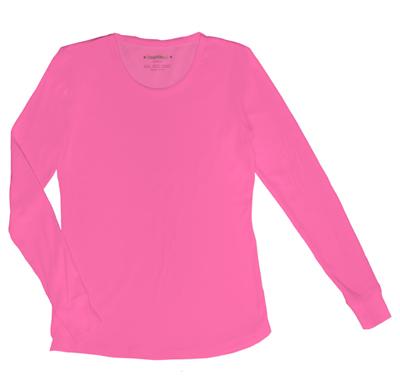 HeartSoul Underscrub Knit Tees Women's Social Butter-Fly Underscrub Knit Tee Pink