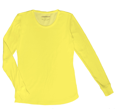 HeartSoul Underscrub Knit Tees Women's Social Butter-Fly Underscrub Knit Tee Yellow